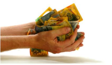 Hands full of Money